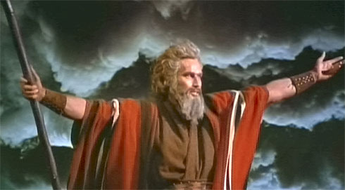 Charlton Heston in his most famous role