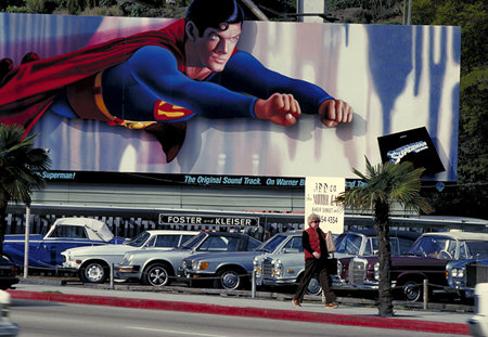 An LA billboard featuring Christopher Reeve as Superman, circa 1978