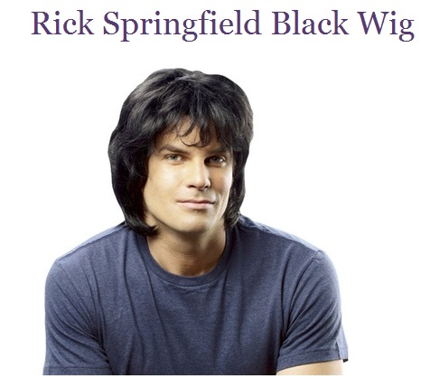 The Rick Springfield wig -- the perfect Halloween get-up!