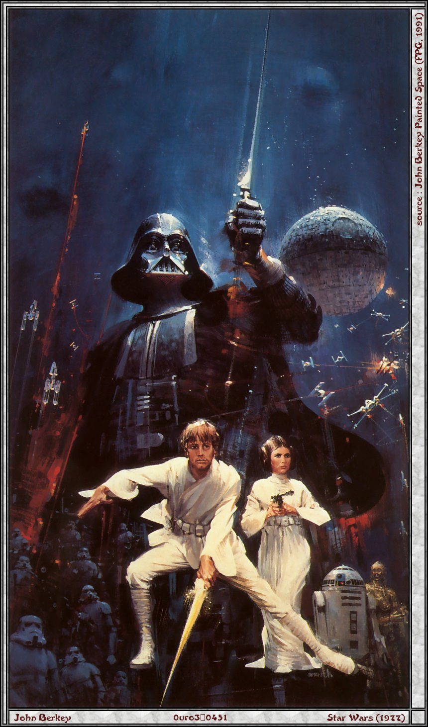 John Berkey's cover art for the novelization of Star Wars