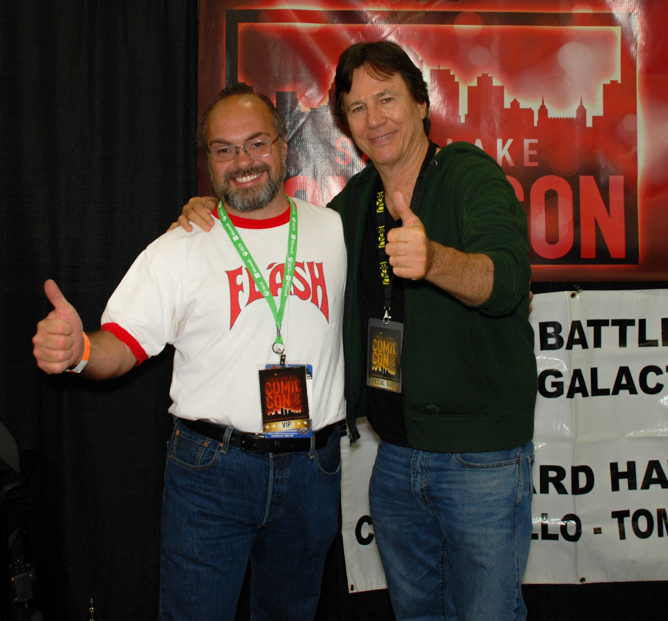 The author with Richard Hatch at Salt Lake Comic Con, September 2013
